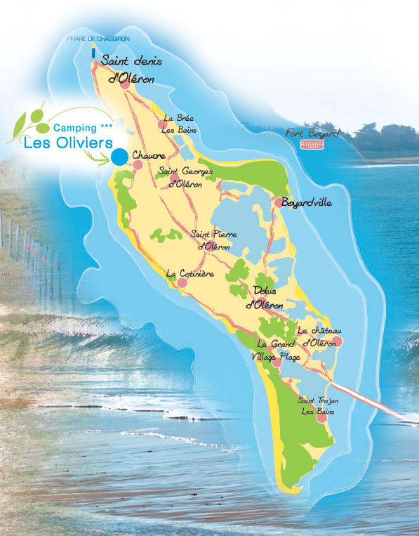 carte il d oleron camping les oliviers